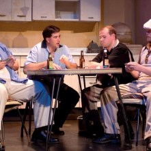 A STREETCAR NAMED DESIRE: (Photo by Jim Dugan) L to R : BRAD FILLION, JIM LATTIN, COREY HONKONEN, SAS, CAMDEN CIVIC THEATRE (2010)