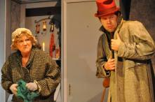 A CHRISTMAS CAROL: (Photo by Sarah Joy) CHRISTINE WEST - OLD WOMAN, SCOTT ANTHONY SMITH - SCAVENGER, MIDCOAST ACTORS' STUDIO (2013)