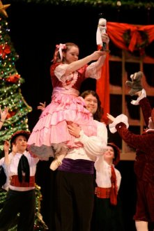 THE NUTCRACKER: (Photo by Lorna Dietrich Cummings) THIA CARTER - CLAIRA, SCOTT ANTHONY SMITH - DROSSELMEYER, ATLANTIC BALLET COMPANY (2010)