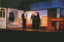 ARSENIC & OLD LACE: SAS - MORTIMER BREWSTER, HEATHER KRAMAR - AUNT ABBY, EMILY LAMOTHE - AUNT MARTHA, MOUNT VIEW HIGH SCHOOL (2001)