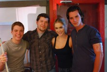 ANATOMY OF THE TIDE: Bar Patron (On set): Two Tides Entertainment 2011 (Gabriel Basso, SAS, Spencer Locke, Nathan Keyes)