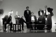 CONVERSATION AT MIDNIGHT: (Photo by Hanna DeHoff) L to R: HAL OWEN, KEN BARNES, SCOTT ANTHONY SMITH, DEAN JORGENSEN, DAVID TROUP, JENNIFER HODGSON, PAUL HODGSON, EVERYMAN REPERTORY THEATRE (2010)