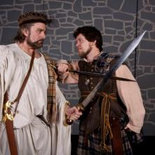 MACBETH (Photo by Jim Dugan) TOM CRUTCHER - MACBETH, SCOTT ANTHONY SMITH - MACDUFF CAMDEN CIVIC THEATRE (2012)