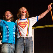 GODSPELL: (Photo by Jim Dugan) SCOTT ANTHONY SMITH - JUDAS, DOMINIC WILLIAMS - JESUS, CAMDEN CIVIC THEATRE (2010)