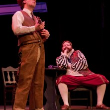 THE MERRY WIVES OF WINDSOR: (Photo by Jim Dugan) SCOTT ANTHONY SMITH - MASTER FORD (disguised as Master Brook), BRAD FILLION - SIR JOHN FALSTAFF, CAMDEN CIVIC THEATRE (2010)
